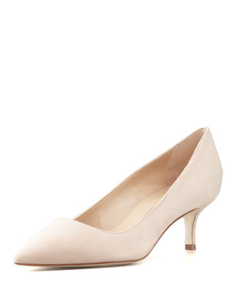 BB Suede 50mm Pump, Nude (Made to Order)