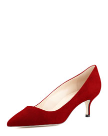 BB Suede 50mm Pump, Ruby