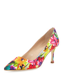 BB Fabric 70mm Pump, Vivid Floral
