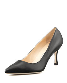 BB Leather 70mm Pump, Black