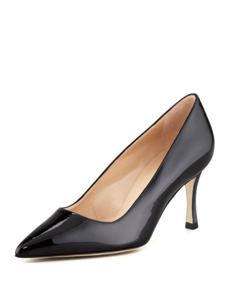 BB Patent 70mm Pump, Black (Made to Order)