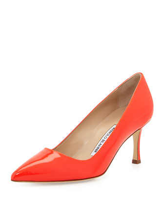 BB Patent 70mm Pump, Coral (Made to Order)