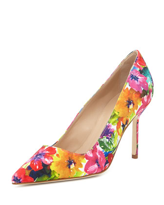BB Fabric 90mm Pump, Vivid Floral (Made to Order)