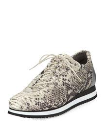 Relay Python-Print Sneaker, Metal