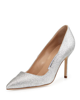 BB Glitter 90mm Pump, Silver (Made to Order)