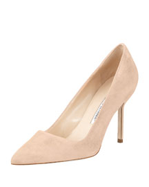 BB Suede 90mm Pump, Nude