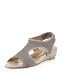 Giver Stretch Demi-Wedge Sandal, Dove