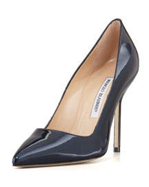 BB Shimmer Patent 105mm Pump, Navy (Made to Order)