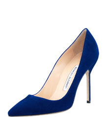 BB Suede 105mm Pump, Cobalt