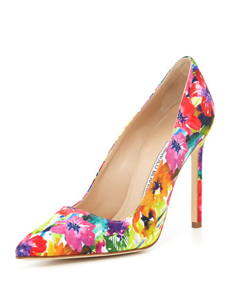 BB Fabric 115mm Pump, Vivid Floral (Made to Order)