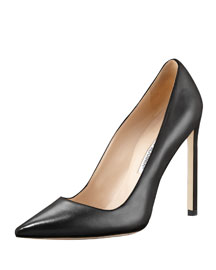 BB Leather 115mm Pump, Black