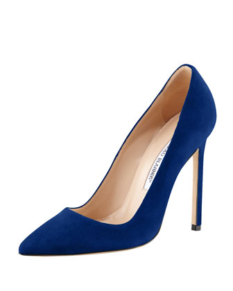 BB Suede 115mm Pump, Cobalt (Made to Order)