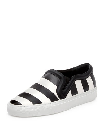 Striped Leather Skate Shoe
