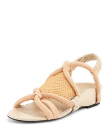 Marquise Tubular Strappy Sandal, Peach