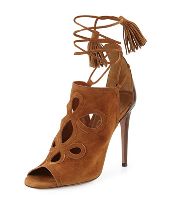 Get Me Everywhere Suede Sandal, Caffe