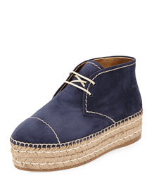 Suede Espadrille Chukka Boot, Oltremare