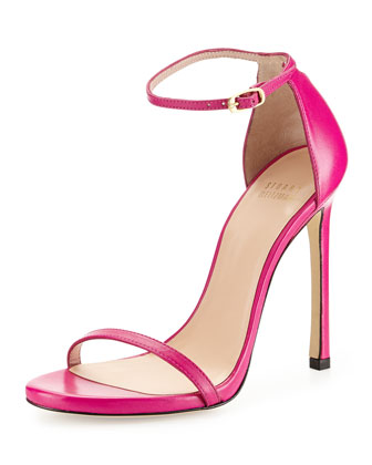 Nudist Ankle-Strap Sandal, Cyclamen