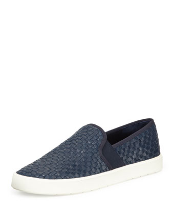 Preston Woven Napa Skate Shoe, Heather Indigo