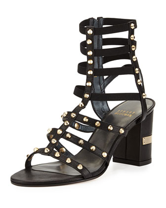 Rivetcleo Gladiator City Sandal, Black