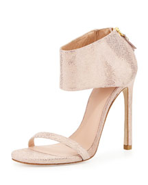 Showgirl Ankle-Cuff Sandal, Flesh