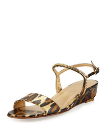 Sweeper Demi-Wedge Sandal, Jaguar