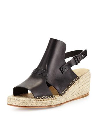 Sayre II Espadrille Wedge Sandal, Black
