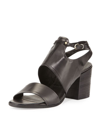 Chianni Leather City Sandal, Nero
