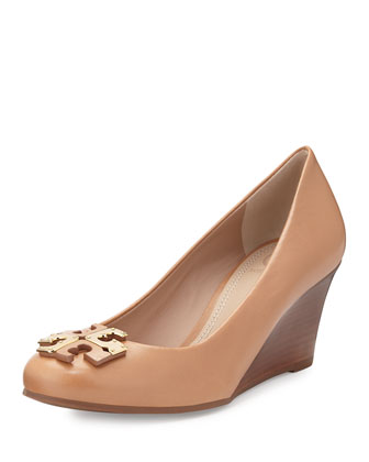 Lowell New Logo Wedge Pump, Natural Blush