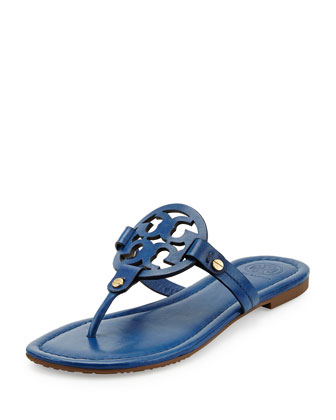 Miller Leather Logo Thong Sandal, Greek Blue