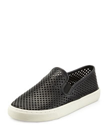 Jesse Perforated Slip-On Sneaker, Black
