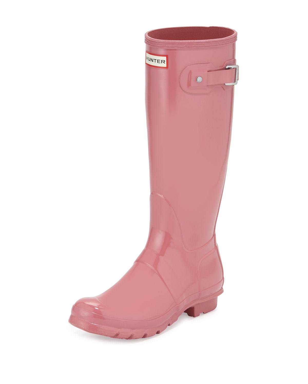Hunter Boot Original Tall Gloss Rain Boot, Rhodonite Pink, Women's, Size: 10B