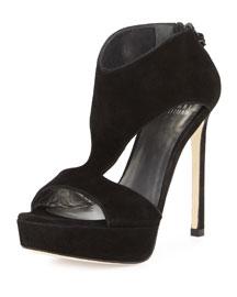 Hot Stuff Platform Sandal, Black