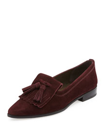 Avatass Suede Tassel Loafer, Currant