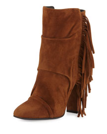 Alabama Suede Fringe Boot, Falcone