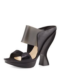 Sculpted High-Heel Mule, Black