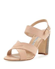Gorham Leather Slingback Sandal, Beige