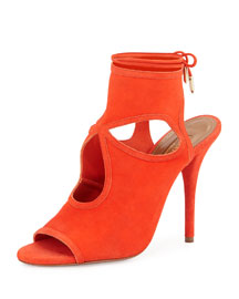 Sexy Thing Suede Sandal, Clementine