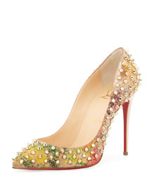 Follies Spiked Cork Red Sole Pump, Multicolor