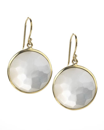 Large Lollipop Earrings, Mother-of-Pearl