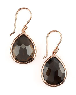 Ippolita Rose Teardrop Earrings, Smoky Quartz