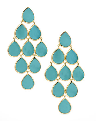 Turquoise Cascade Earrings