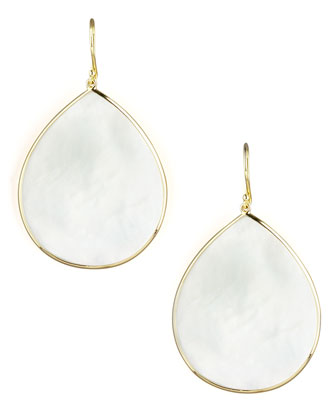 Mother of Pearl Slice Earrings