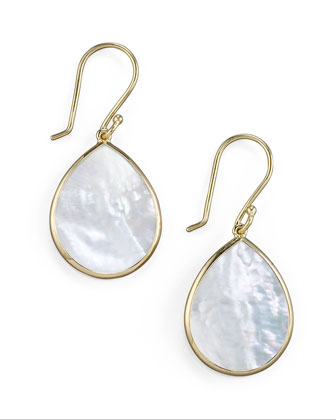 Small Teardrop Earrings, Mother-of-Pearl