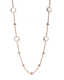 Ippolita Clear Quartz Lollipop Necklace