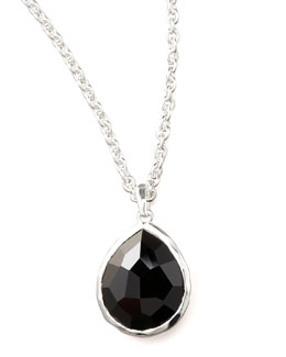 Ippolita Black Onyx Teardrop Necklace