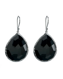 Onyx Teardrop Earrings