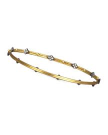 Diamond-Quatrefoil Bangle, Golden