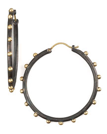 Midnight Granulated Hoops