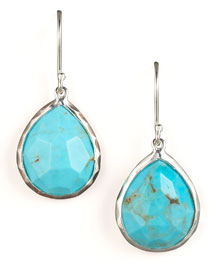 Turquoise Teardrop Earrings, Small