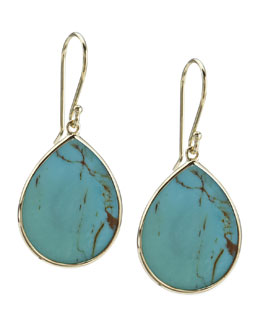 Ippolita Turquoise Slice Earrings, Small